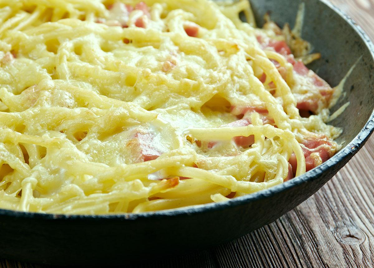Empty the Fridge - Pasta fritatta