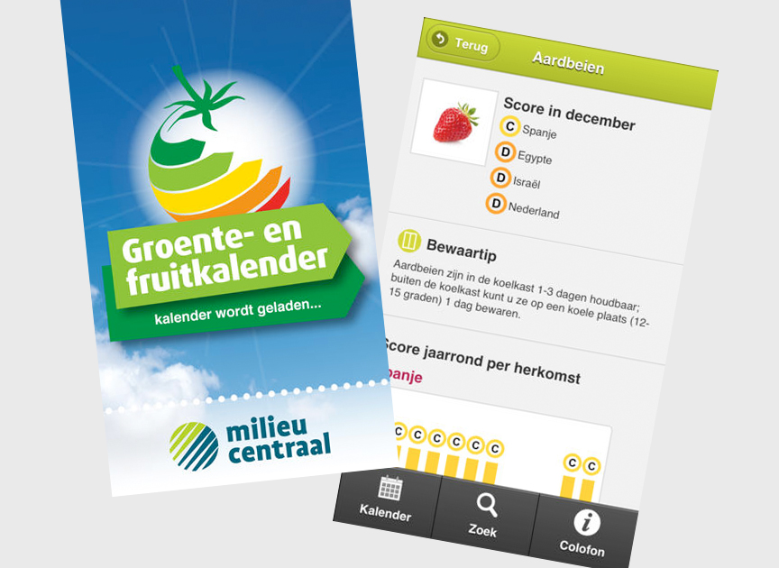 Empty the fridge - Groenten en fruit kalender