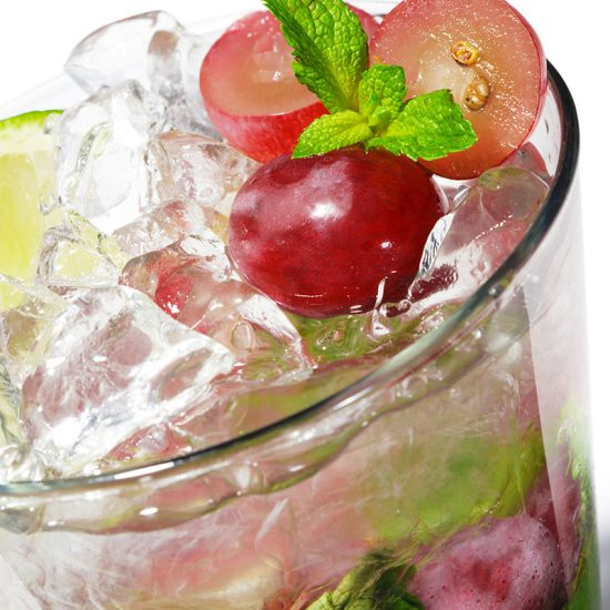Empty the fridge - Spritzer met druiven