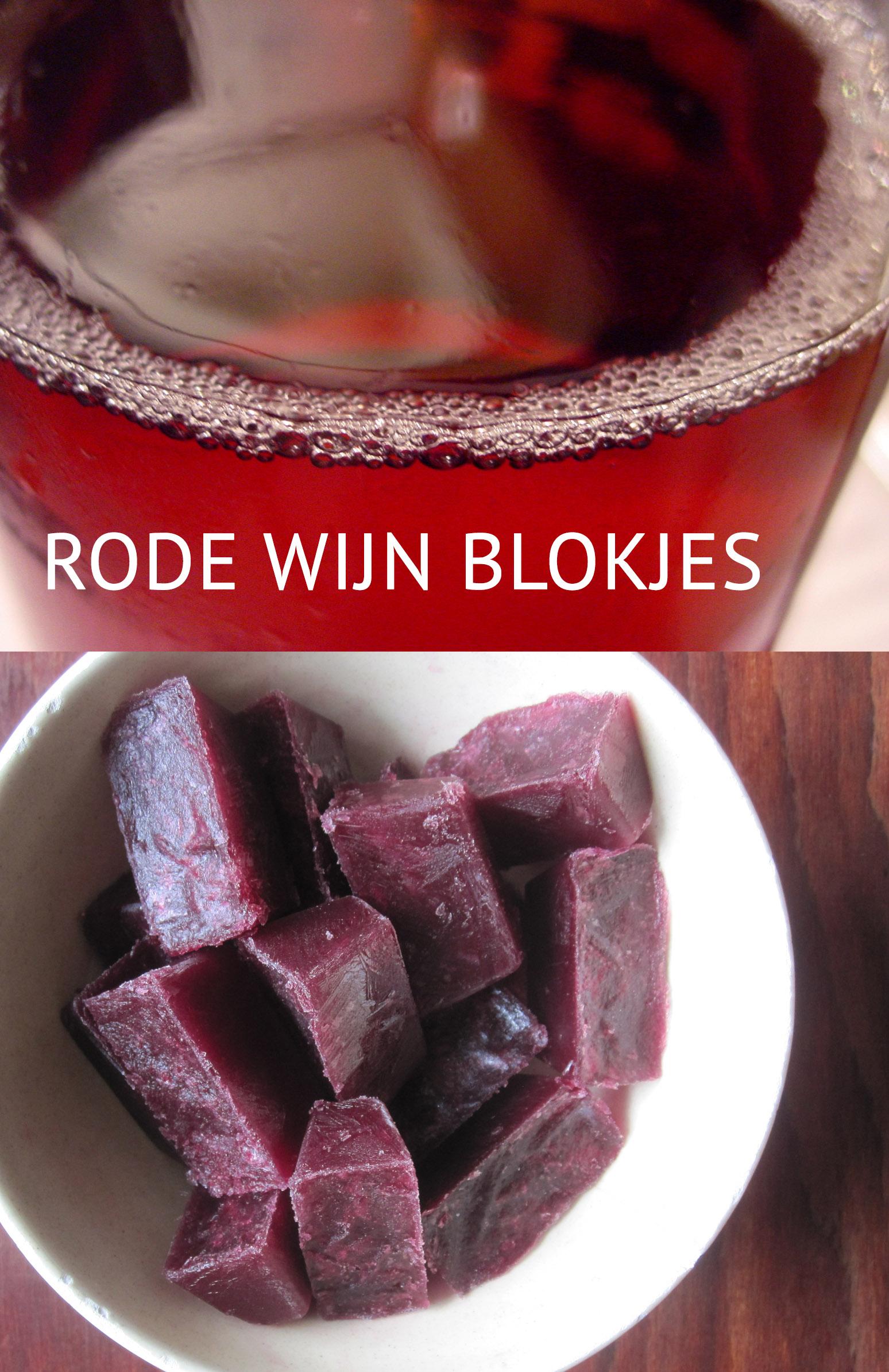 Empty the Frdige - Rode wijn blokjes