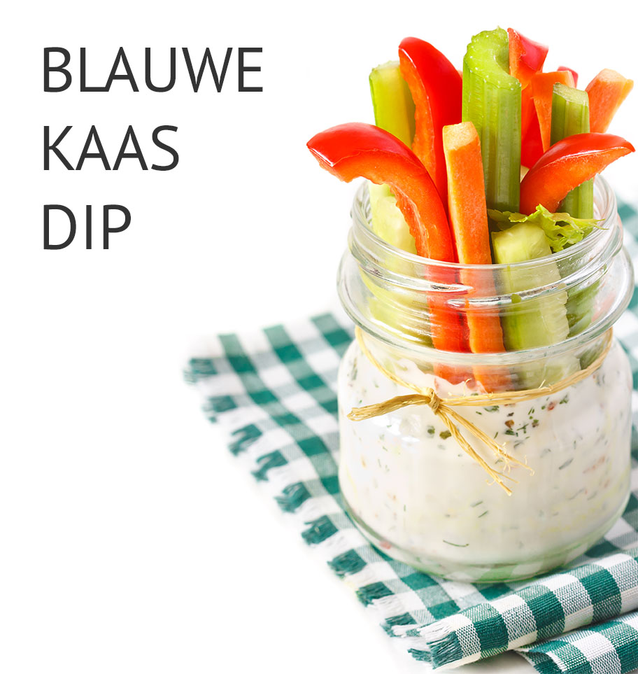 Empty the fridge - Blauwe kaas dip