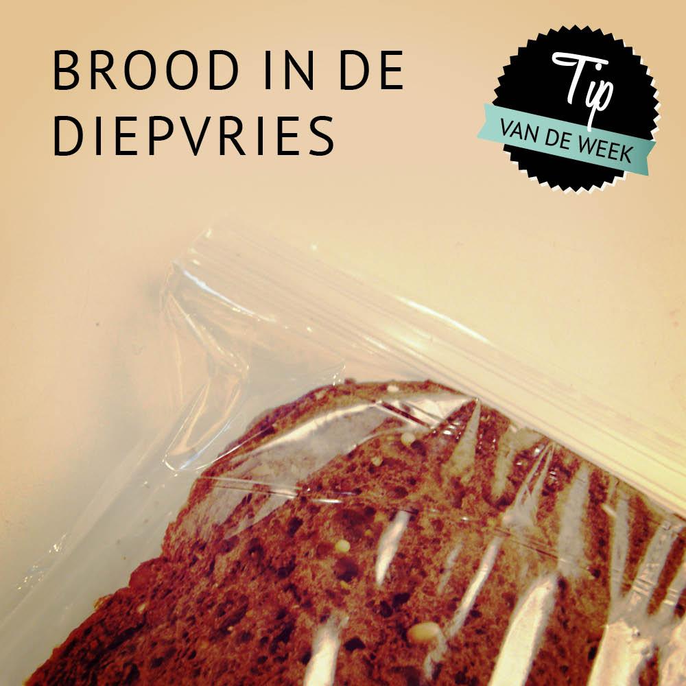 Empty the Fridge Tip - Brood in de diepvries