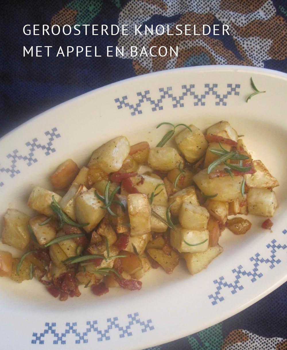 Empty the Fridge - Geroosterde knolselder met appel en bacon