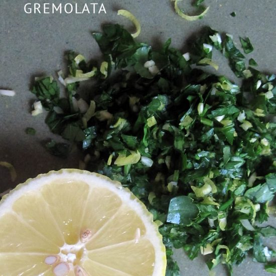 Empty the Fridge - Gremolata