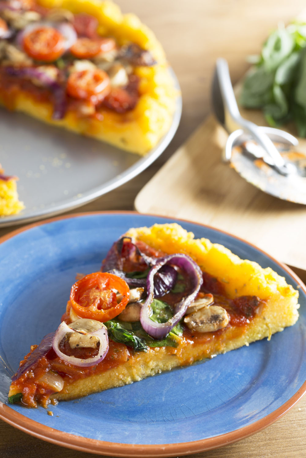 Empty the Fridge - Polenta pizza
