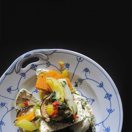 Empty the Fridge - Flatbreads met kruiden en gegrilde groenten