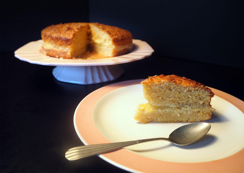 Polentataart met 'faux' lemon curd