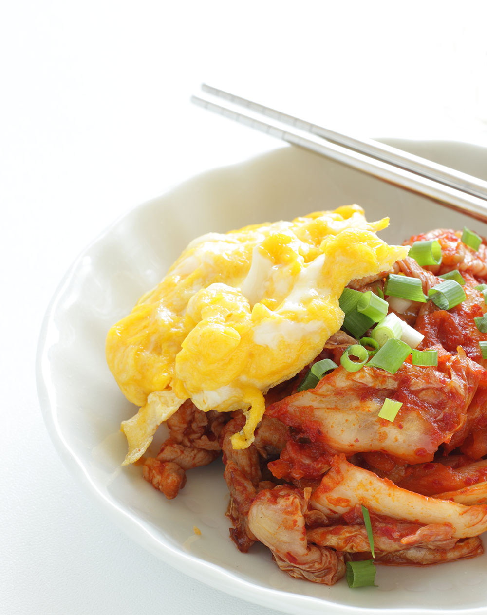 Empty the Fridge - Kimchi omelet
