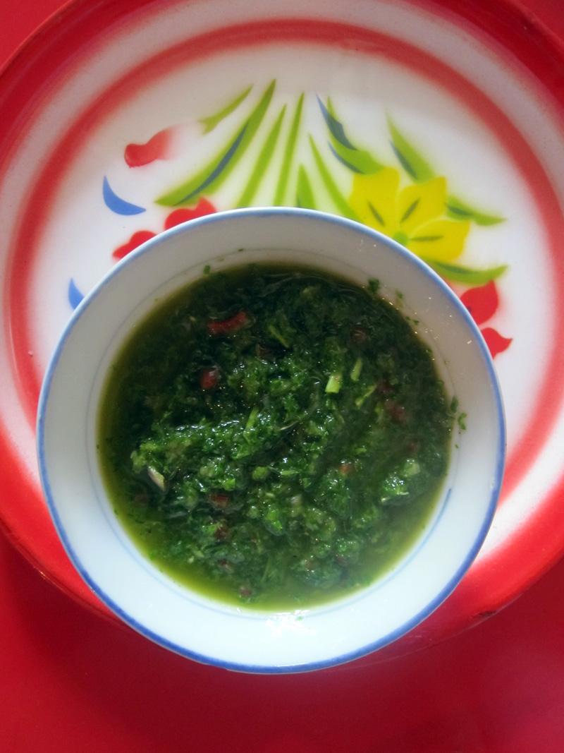 Empty the fridge - Chimichurri saus