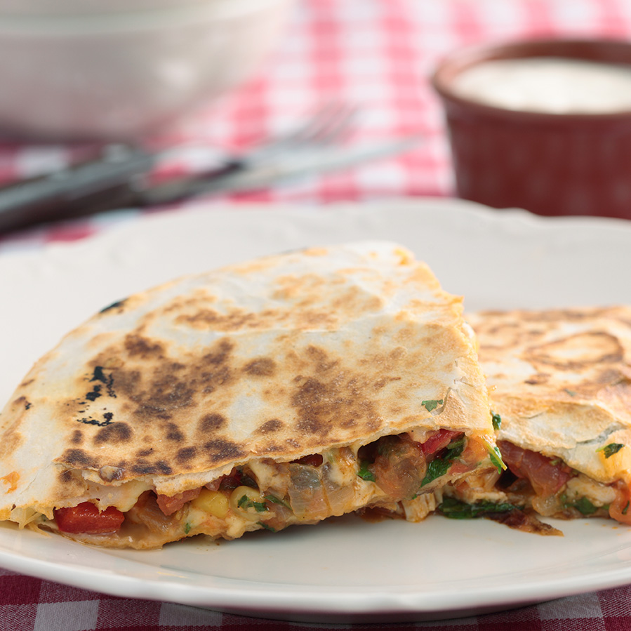 Empty the fridge - Quesadillas met kip