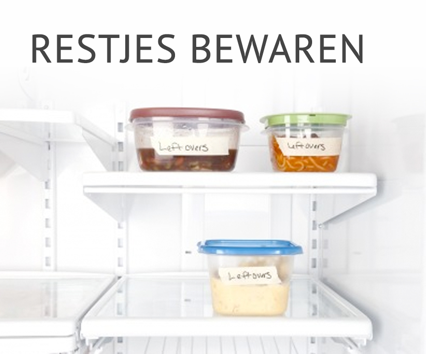 Empty the fridge - Restjes bewaren