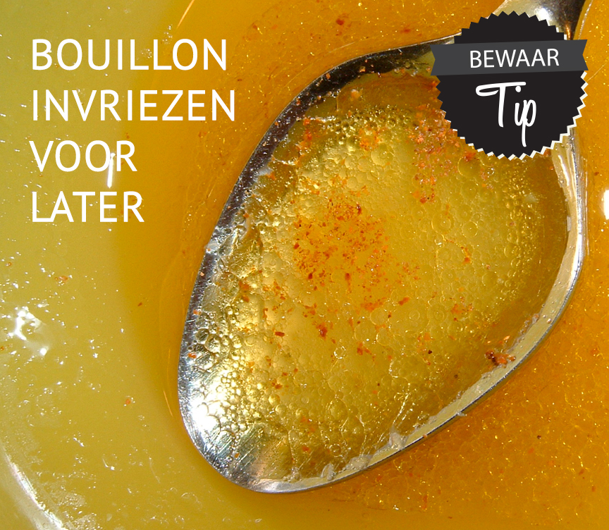 Empty the fridge - Bouillon bewaren