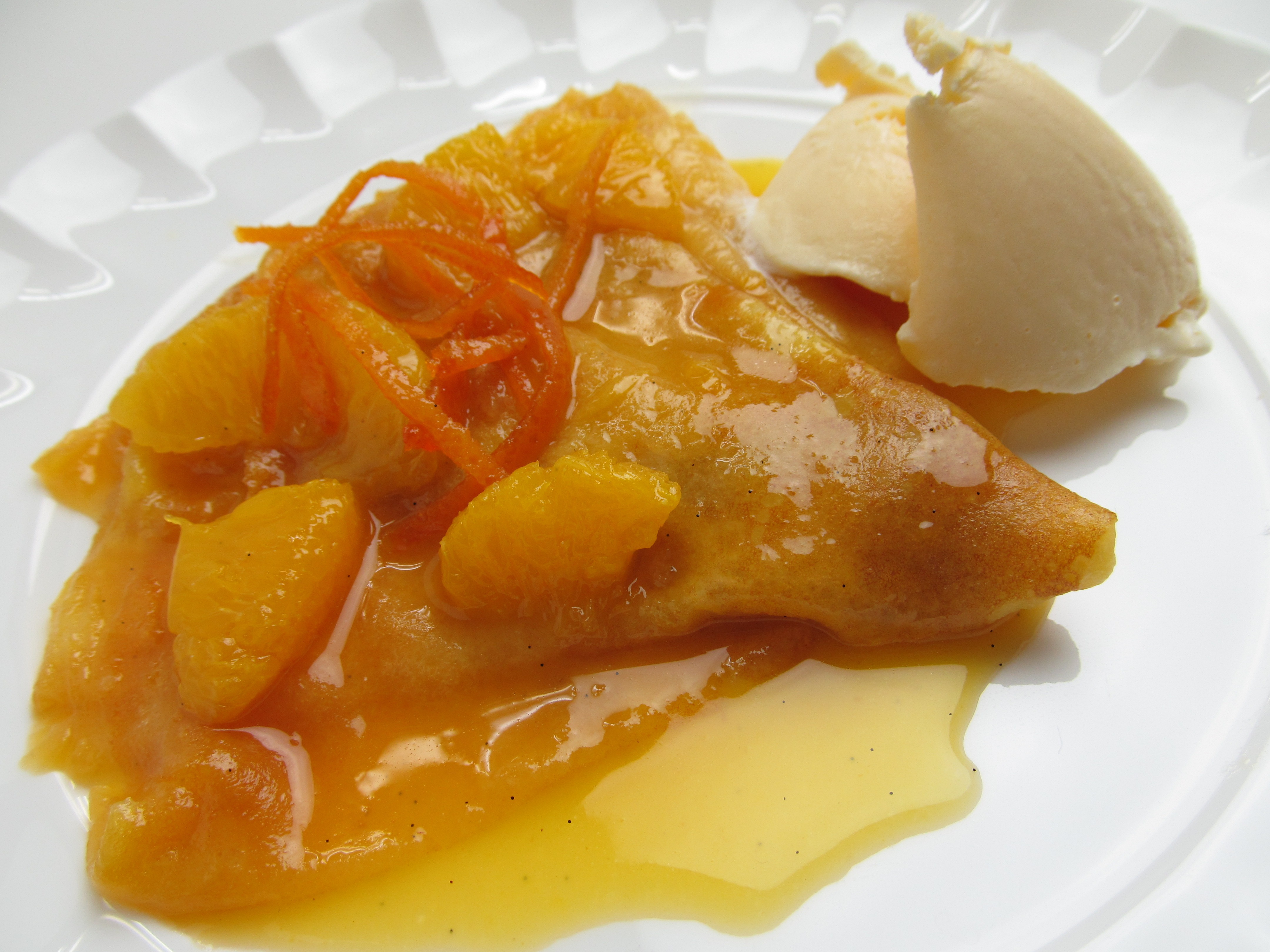 Empty the fridge - Crepes Suzette