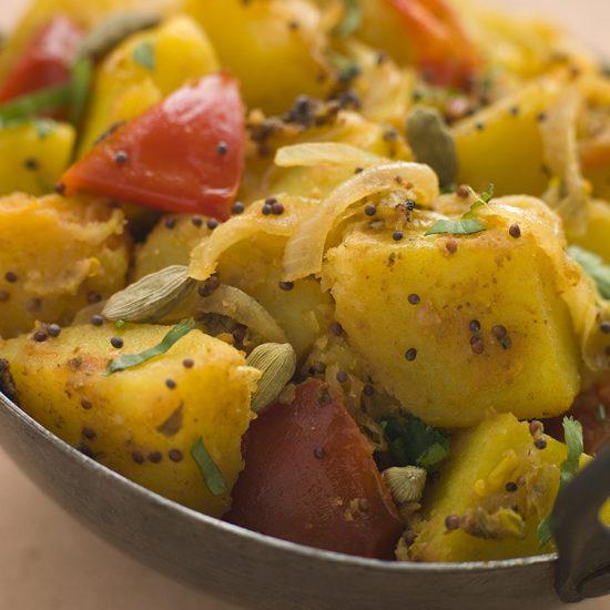 Empty the fridge - Bombay potatoes