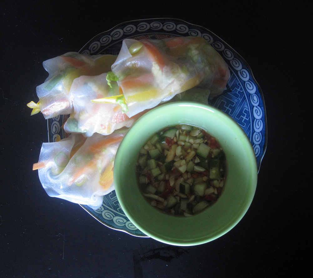 Empty the fridge - Springrolls