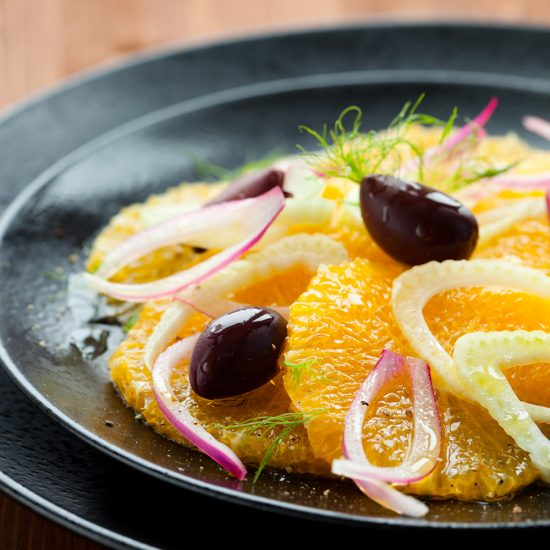 Empty the fridge - Salade van appelsien en venkel