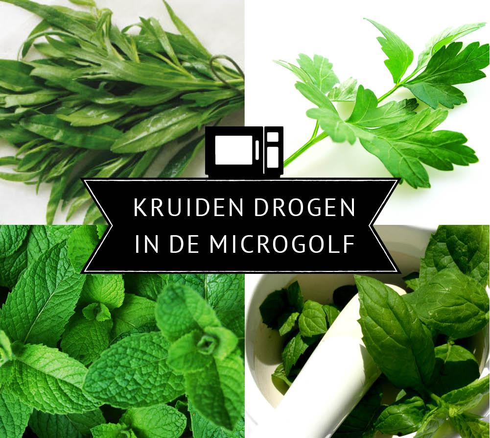 Empty the Fridge - Kruiden drogen in de microgolf