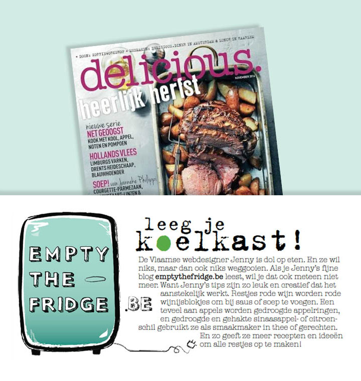 Empty the Fridge - Delicious magazine - november 2014