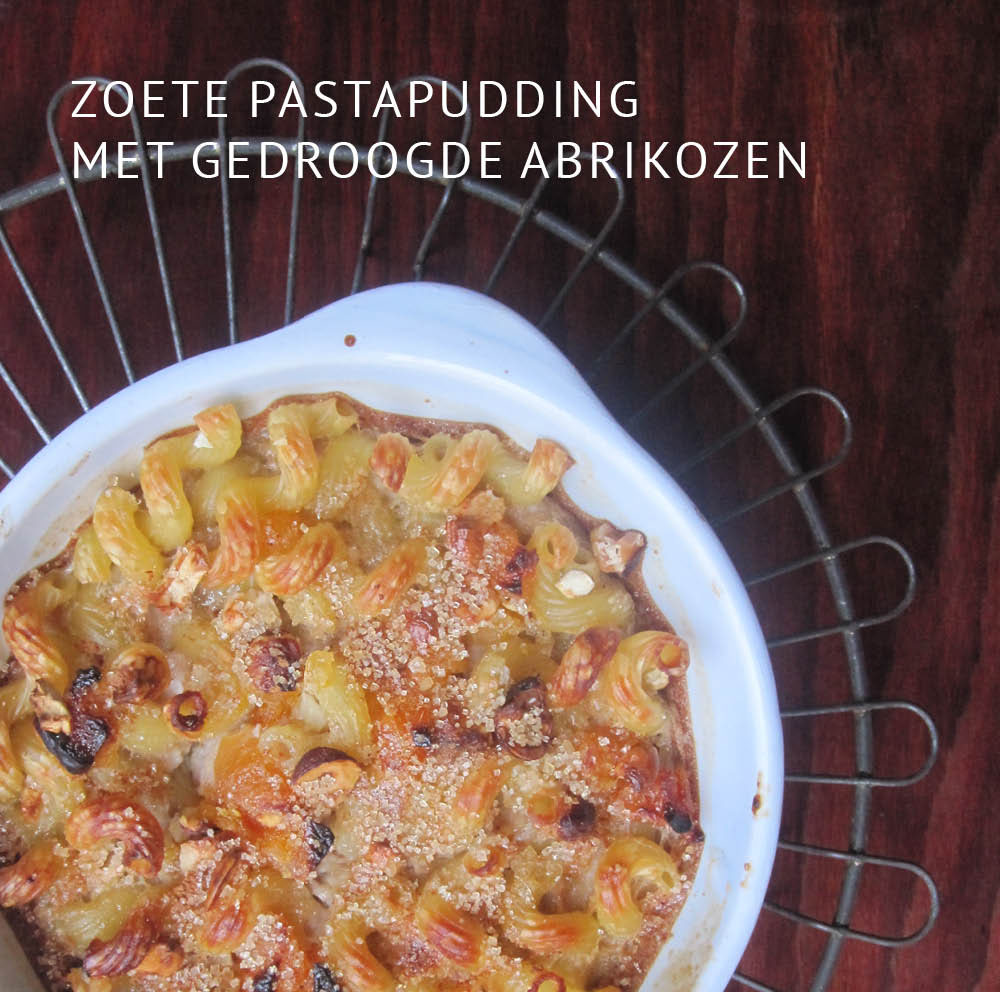 Empty the Fridge - Zoete pastapudding met gedroogde abrikozen