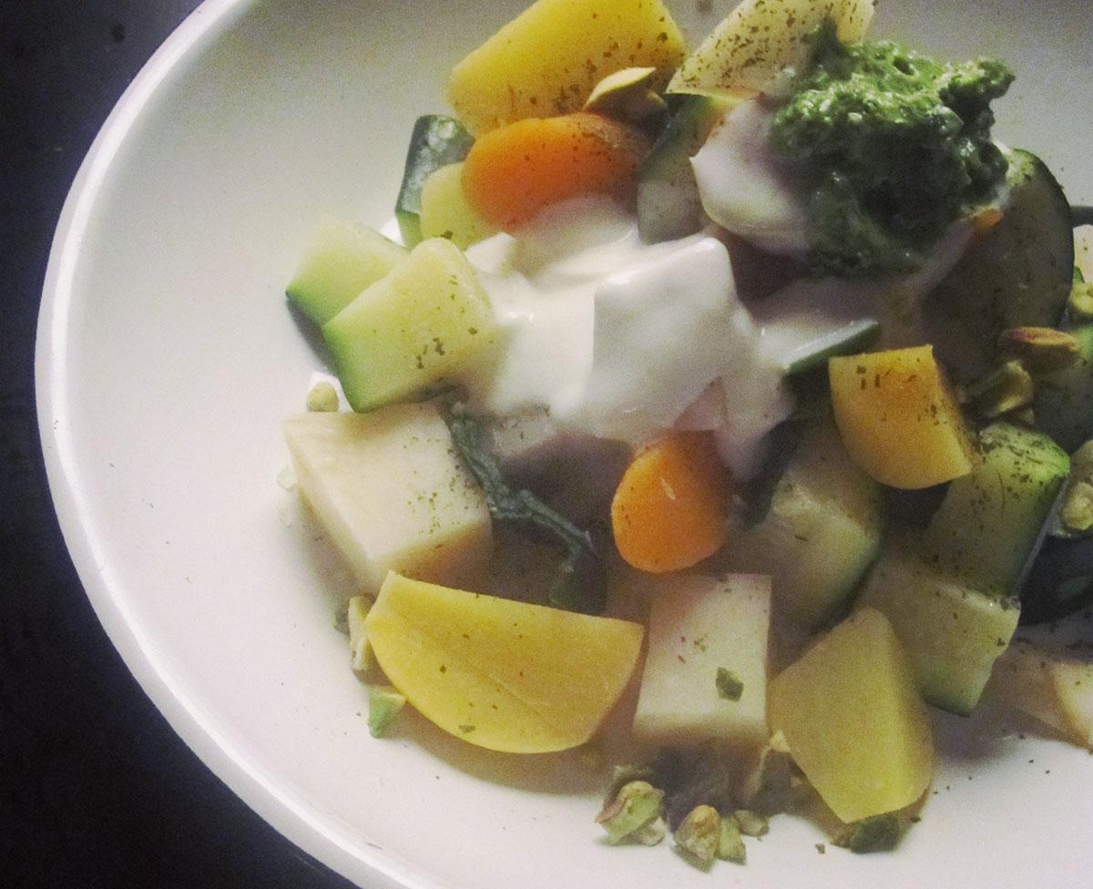Empty the Fridge - Pesto van selder met pistache en feta 2