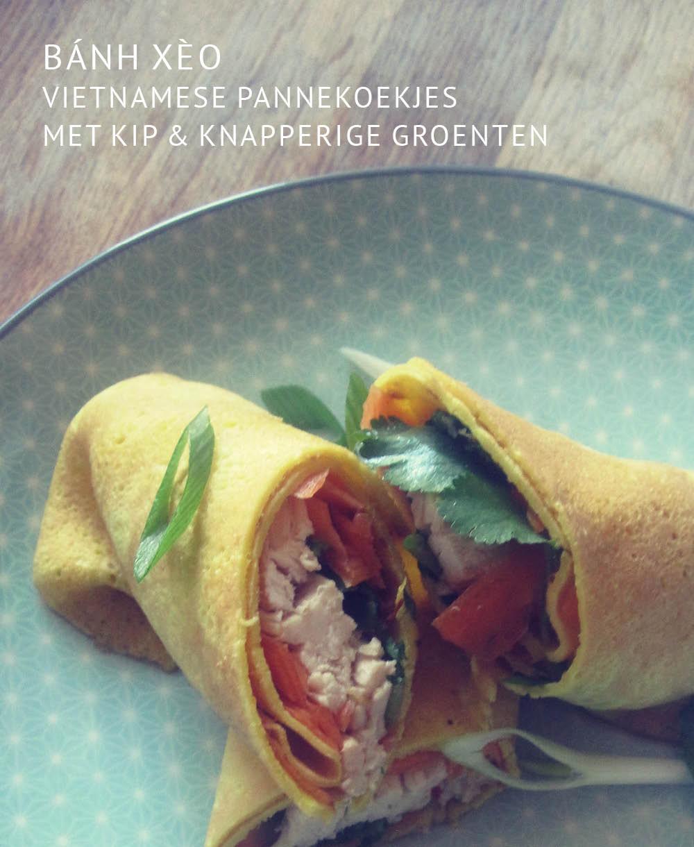 Empty the Fridge - Vietnamese pannekoekjes met kip en knapperige groenten