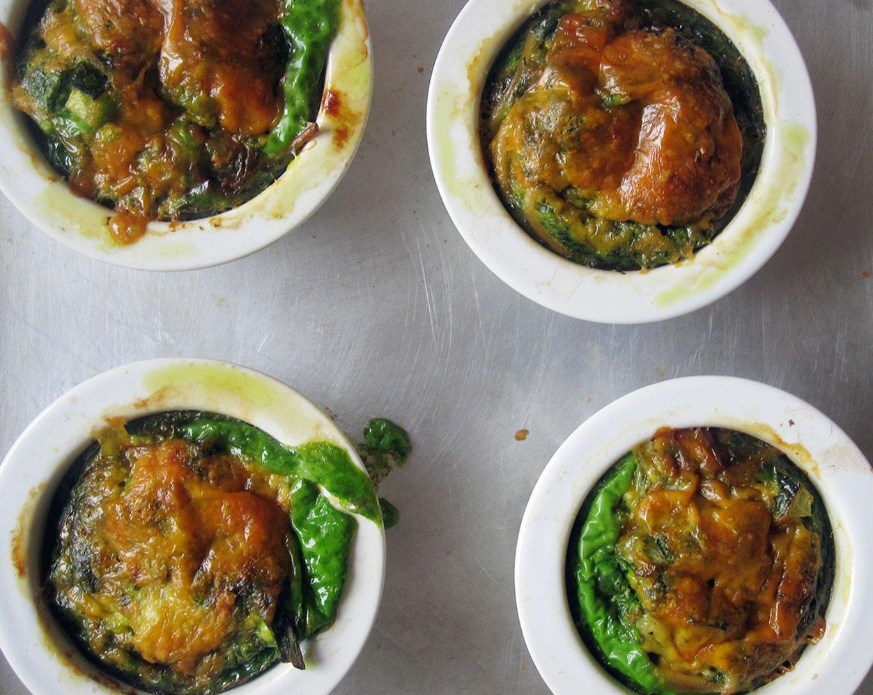 Empty the fridge - Pasta pesto muffins