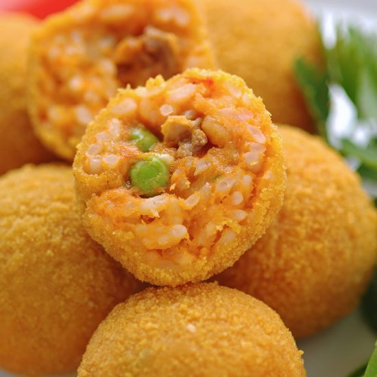 Empty the Fridge - Arancini van een restje paella