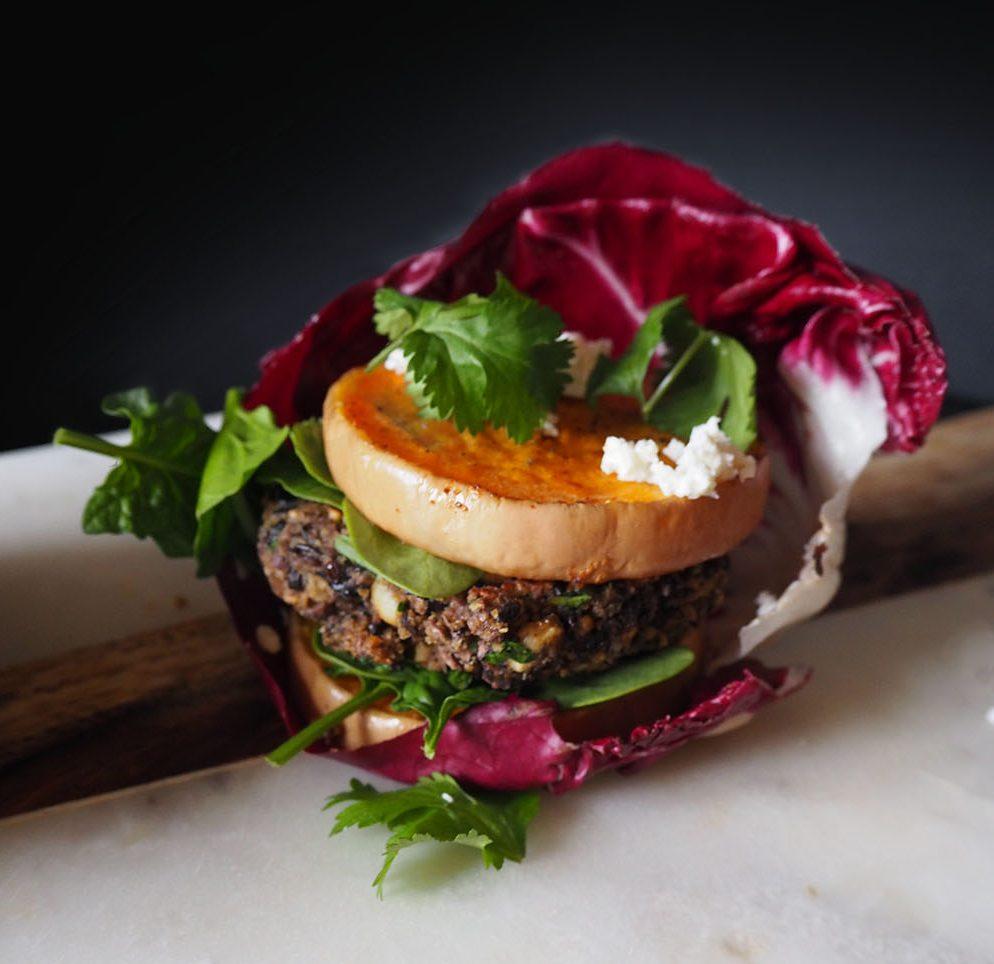 Empty the Fridge - Zwarte bonen burger met pompoen