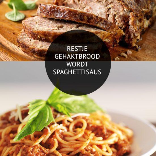 Empty the Fridge - Restje gehaktbrood wordt spaghettisaus