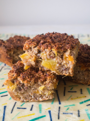Empty the Fridge - Havermoutbars met ananas