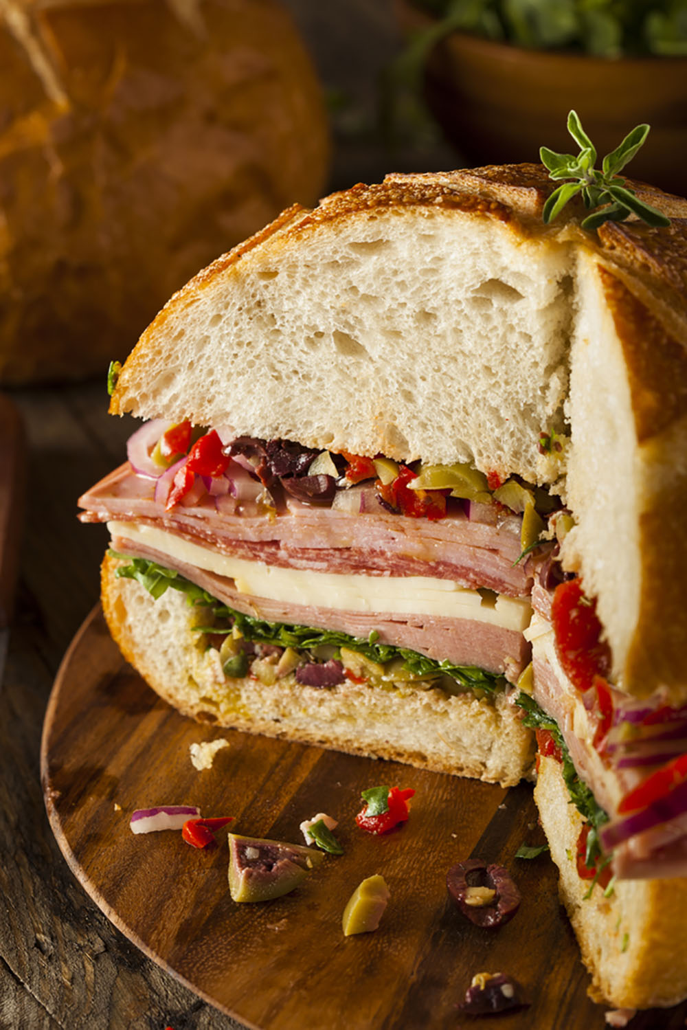 Empty the Fridge - Muffuletta picknickbrood