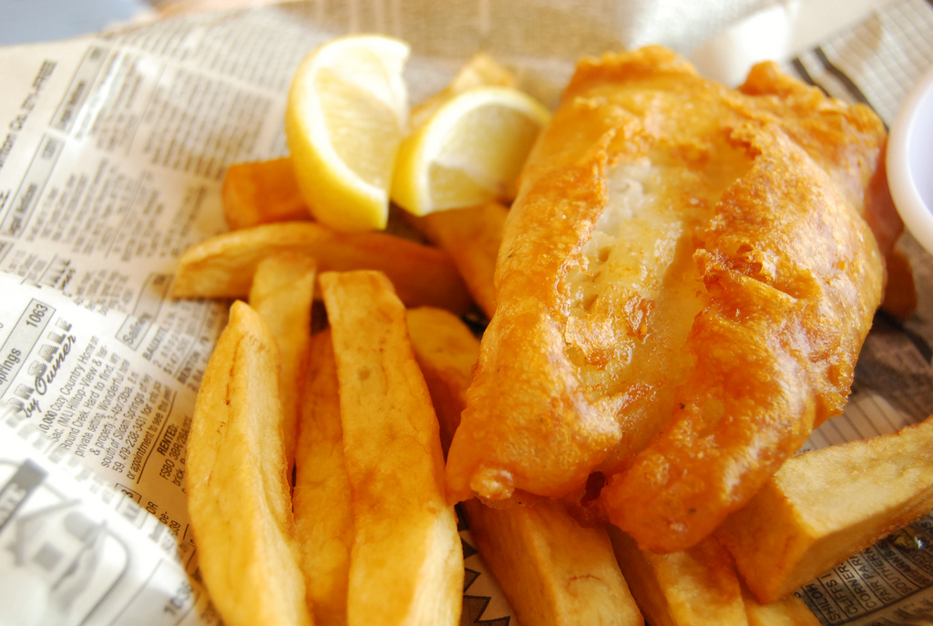 Empty the Fridge - Fish-and-chips